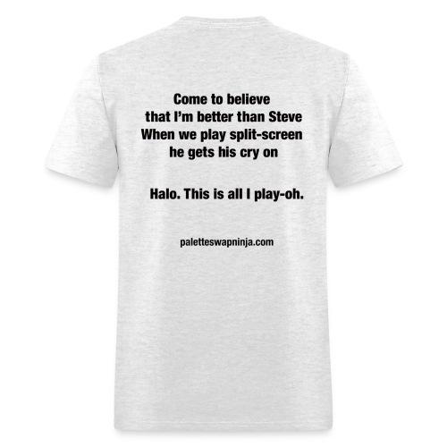 Palette-Swap Ninja - Halo lyric light - Men's T-Shirt