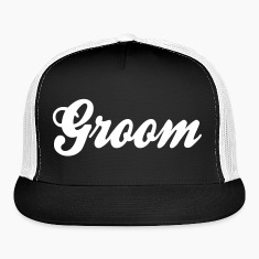 Cool Groom Script Design Caps