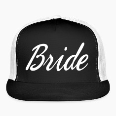 Cute Bride Script design Caps