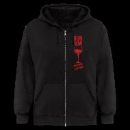 Zip Hoodies & Jackets ~ Men's Zip Hoodie ~ run now wine later | Mens zipper hoodie