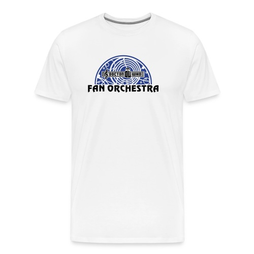 Men's White - DWFO logo T - Men's Premium T-Shirt