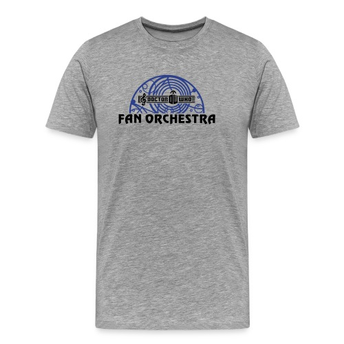 Men's Gray - DWFO logo T - Men's Premium T-Shirt