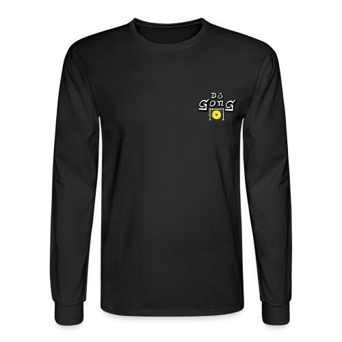 Long Black Golden Gong - Men's Long Sleeve T-Shirt