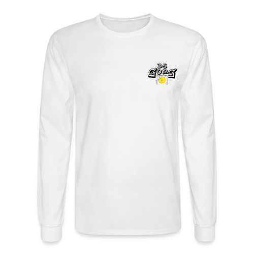 Long White Golden Gong - Men's Long Sleeve T-Shirt
