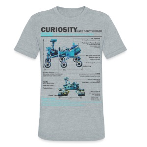 Curiosity Rover - Unisex Tri-Blend T-Shirt by American Apparel