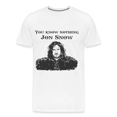 You know nothing Jon Snow T-shirt - Men's Premium T-Shirt