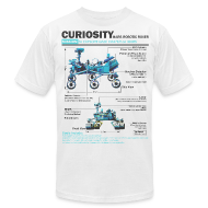 T-Shirts ~ Men's T-Shirt by American Apparel ~ Curiosity Rover