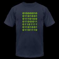 T-Shirts ~ Men's T-Shirt by American Apparel ~ Bitcoin binary