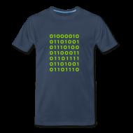 T-Shirts ~ Men's Premium T-Shirt ~ Bitcoin binary