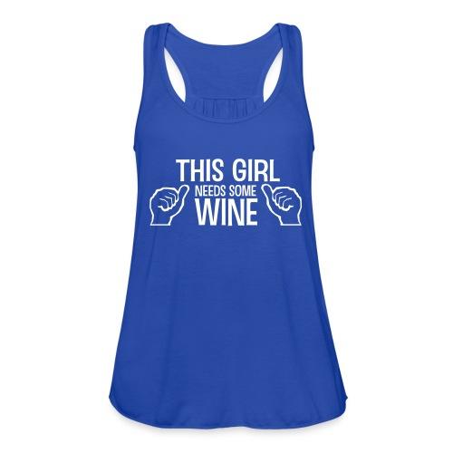 Wine Tank - Women's Flowy Tank Top by Bella