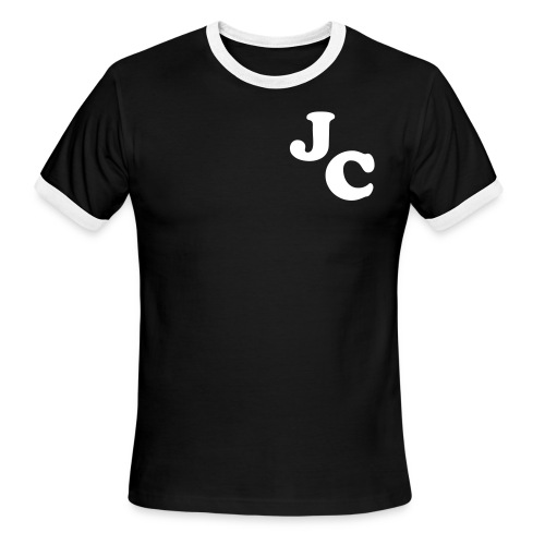 Male T-Shirt (Black and White) - Men's Ringer T-Shirt