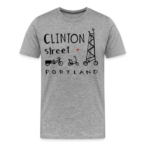 Tall Bike on Clinton Street - Men's Premium T-Shirt