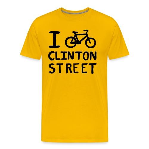 I Bike Clinton Street - Men's Premium T-Shirt