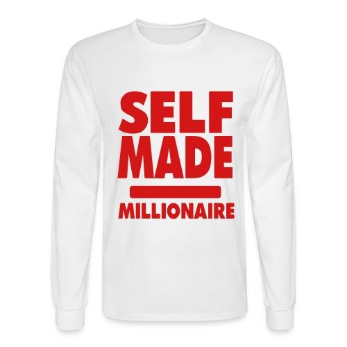 Self made millonaire long sleeve shirt - Men's Long Sleeve T-Shirt