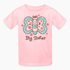 Butterfly Big Sis Kids' Shirts