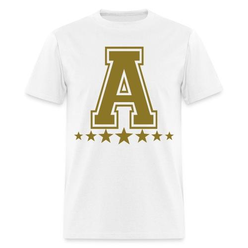 Alpha 7 stars white tee - Men's T-Shirt