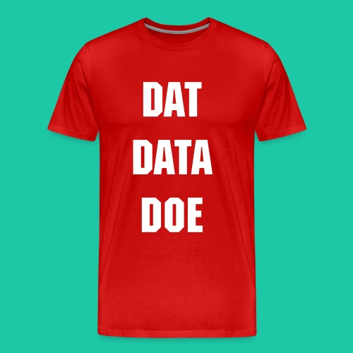 Dat Data (Red) - Men's Premium T-Shirt