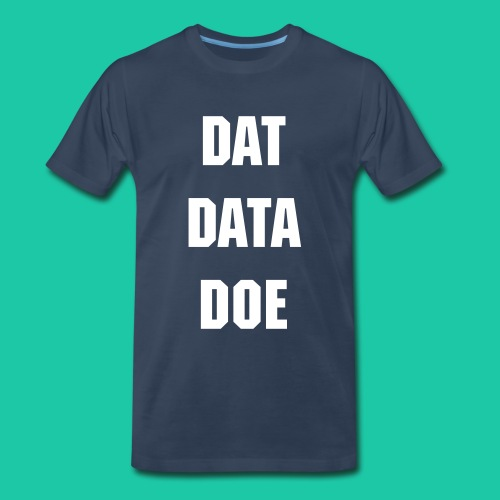 Dat Data (Navy) - Men's Premium T-Shirt