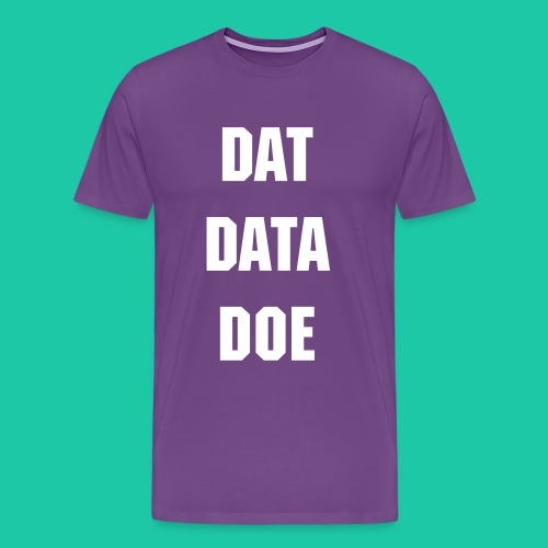 Dat Data (Purple) - Men's Premium T-Shirt