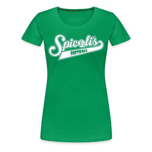 SPICOLI'S SOFTBALL WOMENS T SCRIPT - Green - Women's Premium T-Shirt