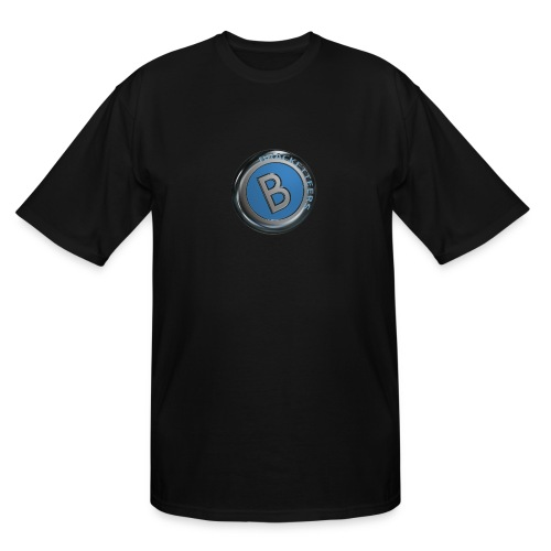 Men's Tall T-Shirt w/Blue Bracketteers Button Logo - Men's Tall T-Shirt