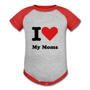 I Heart My Moms - Baby Contrast One Piece