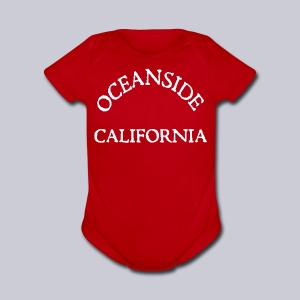 Oceanside California - Short Sleeve Baby Bodysuit