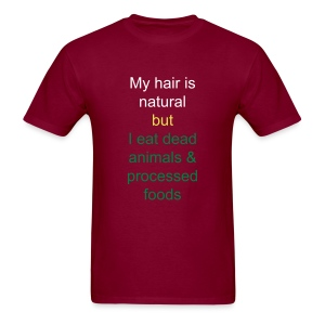 only natural in the head  - Men's T-Shirt