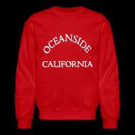 Long Sleeve Shirts ~ Men's Crewneck Sweatshirt ~ Oceanside California