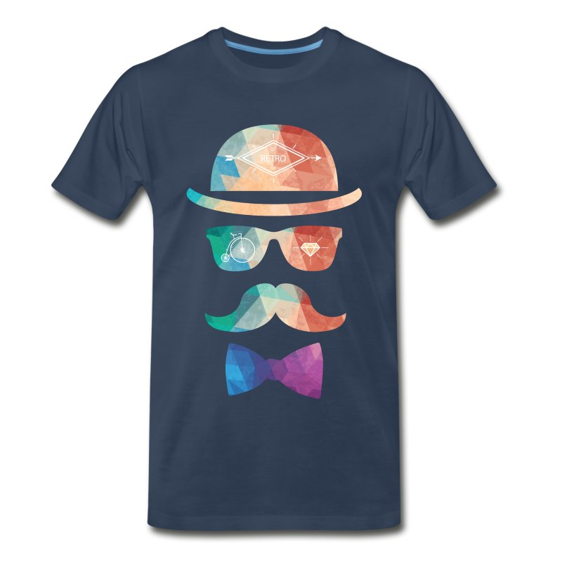 polygonal hipster gentleman t shirt spreadshirt. Black Bedroom Furniture Sets. Home Design Ideas