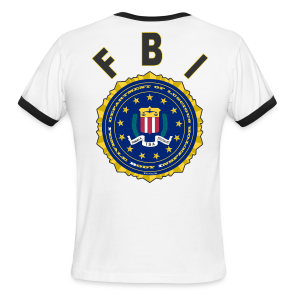 Men's L/W Ringer T Back FBI - Men's Ringer T-Shirt