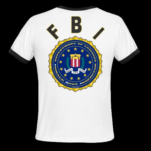 Men's L/W Ringer T Back FBI - Men's Ringer T-Shirt