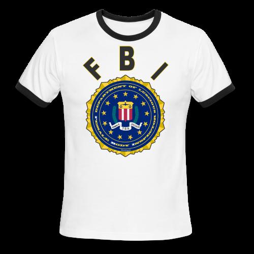 Men's L/W Ringer T Front FBI - Men's Ringer T-Shirt