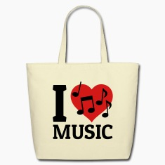 I love Music Bags & backpacks