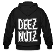 Zip Hoodies & Jackets ~ Men's Zip Hoodie ~ Deez Nutz Zip Hoodies & Jackets