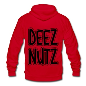 Deez Nutz Zip Hoodies & Jackets - Unisex Fleece Zip Hoodie by American Apparel