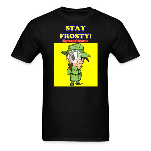 Stay Frosty! Splash Logo - 'Lil Ike (Yellow) - Men's T-Shirt
