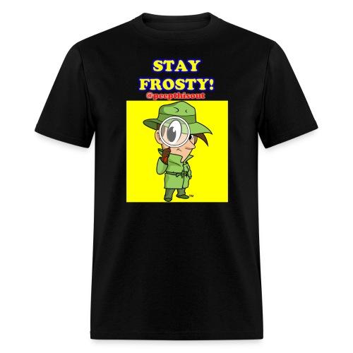 Stay Frosty! Splash Logo - 'Lil Ike (Yellow) - Men's T-Shirt
