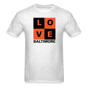 Baltimore Love 2-color Men's Ash Gray - Men's T-Shirt