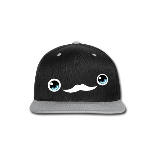 Cute Moustache Face Cap (DarkBlue) - Snap-back Baseball Cap