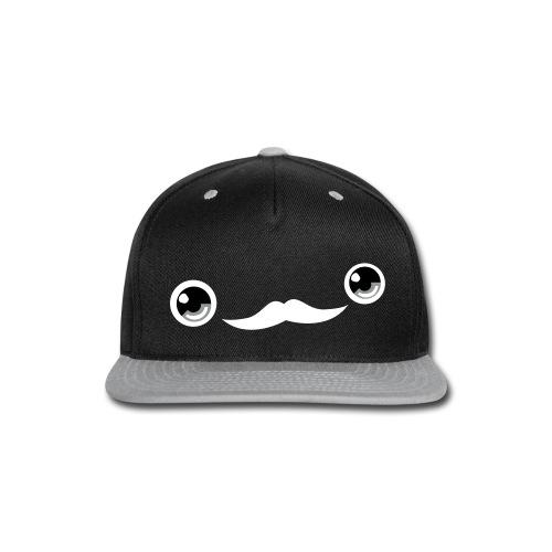 Cute Moustache Face Cap (Grey) - Snap-back Baseball Cap