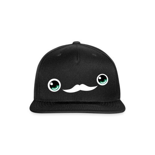 Cute Moustache Face Cap (Black) - Snap-back Baseball Cap