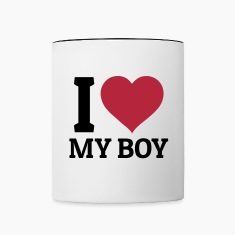 I love my Boy Mugs & Drinkware