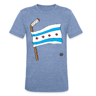 T-Shirts ~ Unisex Tri-Blend T-Shirt by American Apparel ~ Chicago Hockey Flag