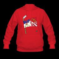 Hoodies ~ Women's Hooded Sweatshirt ~ Detroit Hockey Flag