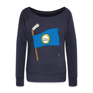 Boston Hockey Flag - Women's Wideneck Sweatshirt
