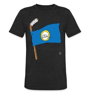 Boston Hockey Flag - Unisex Tri-Blend T-Shirt