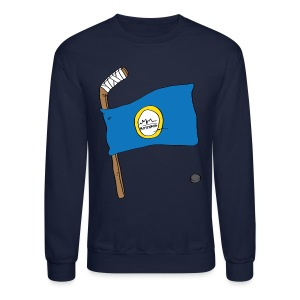Boston Hockey Flag - Crewneck Sweatshirt