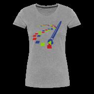 T-Shirts ~ Women's Premium T-Shirt ~ Digital Art Pixel Brush (Women's Shirt)