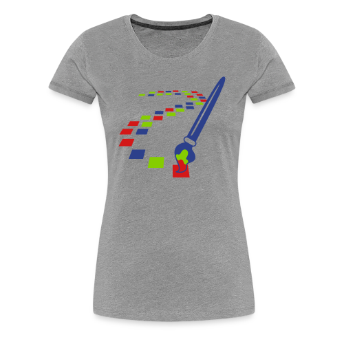 Digital Art Pixel Brush (Women's Shirt) - Women's Premium T-Shirt